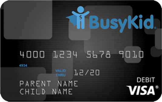 BusyKid Visa® Prepaid Spend Debit Card for only $7.99 per year