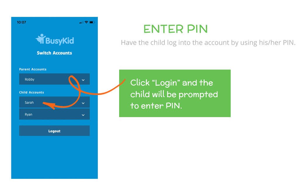 How to load funds to your BusyKid Spend Card: Enter Pin