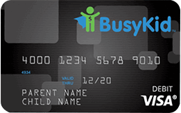 BusyKid Visa® Prepaid Spend Debit Card