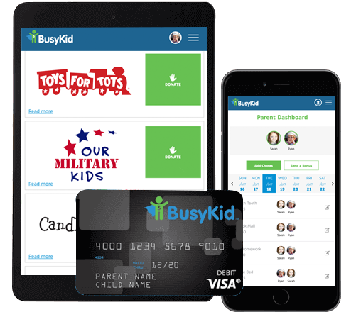 BusyKid Chore Chart App for Mobile and Tablet