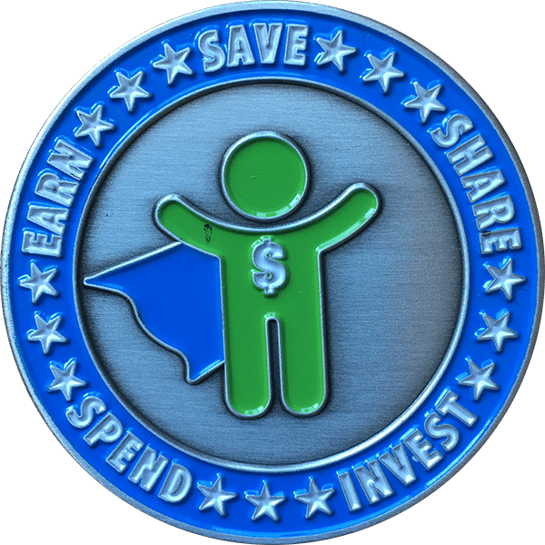 BusyKid Challenge Coin Recognizes Kids' Contributions