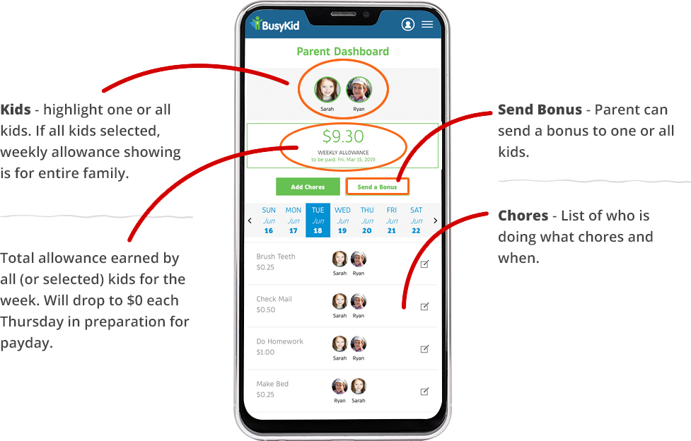How to Use BusyKid Chore Charts App | BusyKid